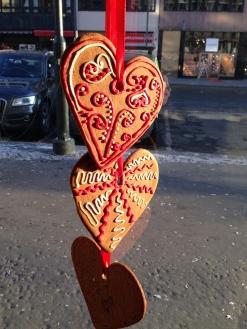 Traditional Pepperkaker Cookies. Folks often hang them in their windows.