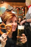 Pretzels and beer at the Bratwursthausle in Nurnberg, Germany. Trying out the local cuisine is probably one of my favorite things about traveling.