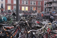 Bikes at Copenhagen's Central Station