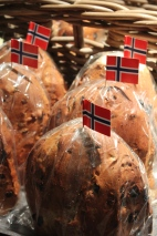 Julebrød (Christmas Bread). It's a kind of raisin bread.