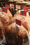 Julebrød (Christmas Bread). It's a kind of raisin bread.
