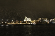 Ishavskatedralen at Night