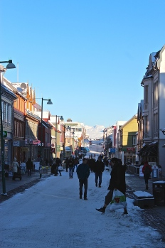 The main shopping street.