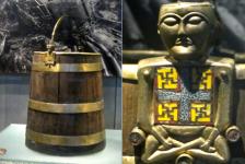 "The famed ""Buddha Bucket."""