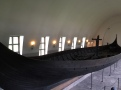 The Gokstad ship is almost 79 feet (24 meters) long and about 16 feet (5 meters) wide. Its single sail measured 1,184 square feet (110 square meters) and would have made it possible for the ship to reach speeds of 12 knots.