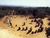 I borrowed this aerial shot courtesy of the Évora tourist website (http://www.evora.net/) so that you can see how the stone circles are laid out, one big donut above a smaller one.