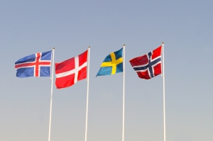© Bestaste | Dreamstime.com - Scandinavian Flags On A Blue Heaven Photo