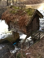 """A Norwegian """"folly"""" by the river."""