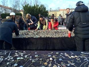Jewelry at Birkelunden bric-a-brac market.