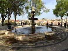 The peaceful São Pedro de Alcantára Park.
