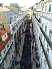 The right-angled orderliness of the Baixa District, built after the disastrous 1755 earthquake that destroyed much of the city.