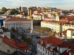 A view across Lisbon from the viewing platform.