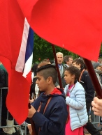 Lots of schoolkids of other nationalities participate in the parade, which helps dampen the anti-immigrant sentiments that have sometimes been an issue here in Norway.