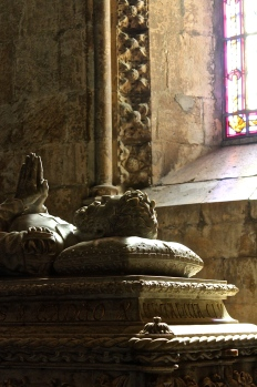 The tomb of Vasco da Gama, who prayed in the old church (once located on the site of the monastery) the night before he set sail to find the route around Africa to India.