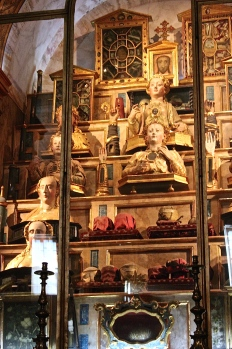 Most Portuguese churches have huge repositories of saints' relics, including gross oddities like eyeballs, fingernails, and tongues.