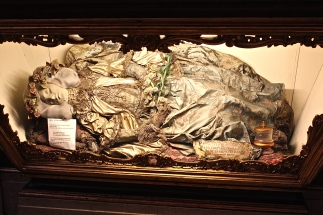 In the Church of St. Anthony rests the body of St. Justina, although I think the head might be papier-mâché, since she was beheaded.
