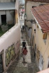 The winding streets of the Alfama district.
