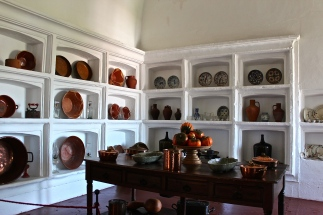 And of course, fabulous dishes line the walls of the 16th-century kitchen.