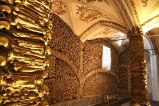Three Franciscan monks -- who were concerned about society's values in wealthy, 16th-century Évora -- built the place with bones from churchyards to help folks meditate on the impermanence of material goods.