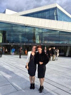 At Oslo's gorgeous Opera House.