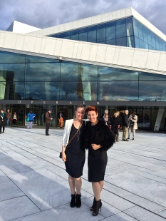At Oslo's gorgeous Opera House.