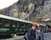 The historic Flåmsbana train.