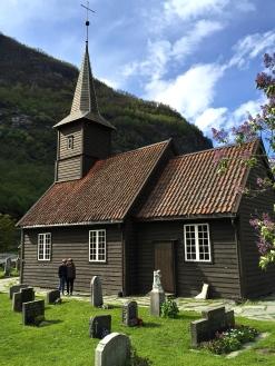 The Flåm church, built in 1670.