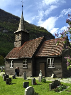 The Flåm church, built in 1670.