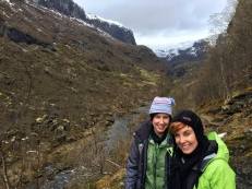 You can see that spring is a bit further along in the sheltered valley behind us.