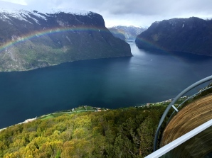 Rainbows seem to be practically an hourly occurrence over fjords and waterfalls.