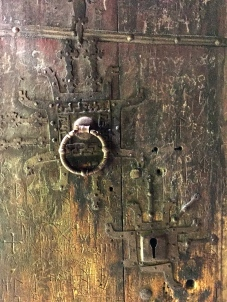 """Impressive door hardware and centuries-old graffiti. Some of them are runic inscriptions, and one says: """"Thor wrote these runes in the evening at the St. Olav's Mass."""""""