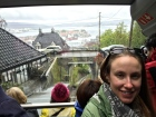 The funicular trip up to Mount Fløyen for an aerial view of Bergen.