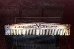 A Viking comb, complete with runes naming the owner.
