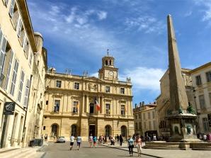 The peaceful Place de la Republique, where a classical guitarist lulled us into a dream state.