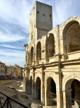 The Roman amphitheater (90 A.D.) is situated in the city center. The tower was added in the 5th century, when the entire arena was turned into a fortress after the fall of the Roman Empire.