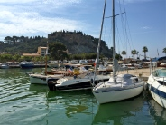 The harbor at Cassis has boats that provide cruises into the Calanques.