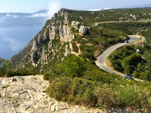 The winding road of the Route des Crêtes (route of ridges) takes you along the top of Cap Canaille for fabulous views of the sea below. You'll also get an eyeful -- and an aromatic snout-full -- of the famous garrigue vegetation, with its twisted pine trees and wildflowers. Sometimes the wind is so strong that this 9-mile road from Cassis to Ciotat is closed to car traffic.
