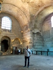 The frigidarium (cold water pool) of the 3rd-century Roman bath.
