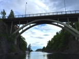 One of the picturesque bridges we passed beneath on our trip.
