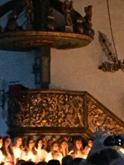 The gilded Baroque pulpit that the choir sang beneath dates to 1699.