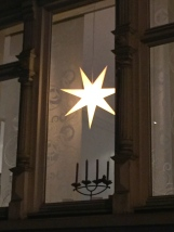Moravian paper stars light up most Norwegian windows at Christmas.