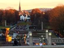 Check out the big crowd at Vigeland's Park on Christmas Day.