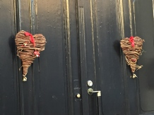 Hearts are super popular Christmas decorations.