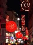 Festive streetlights.