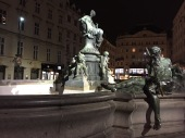 "The Four Rivers Fountain in the center of the Neuer Markt shows Lady Providence surrounded by six frolicking naked folks representing the rivers that flow into the Danube. Empress Maria Theresa found the statues to be too provocative, so she organized ""Chastity Commissions"" to protect the moral fortitude of her city."