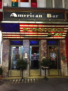 Originally called the Kärntner Bar, The American Bar was just around the corner from our hotel. True to its name, it was filled with Americans.