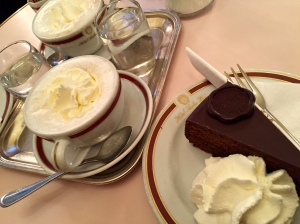 More mélanges and a serious dollop of whipped cream accompanied our torte.