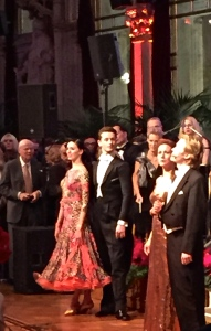 The couple on the right sang famous arias from operettas, while the couple on the left demonstrated the fancy footwork of the Viennese waltz.