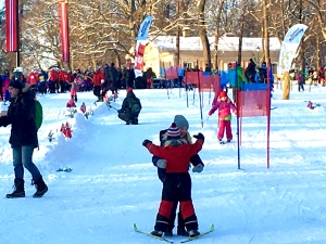 Check out the ski trails for more serious skiers, marked with pine branches, Norwegian flags, and ski poles.