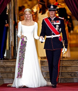 The wedding of Crown Prince Haakon and Crown Princess Mette-Marit. UK Press/Getty images.
